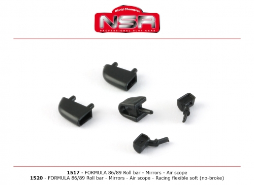 NSR Formula 86/89 Roll Bar, Mirror, Air Scope 1517