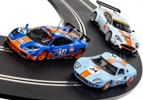 Scalextric  ROFGO Collection Aston Martin, Ford, McLaren 'Gulf'