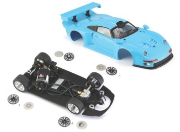 BRM Bausatz Porsche 911 GT1 Light Blue Kit