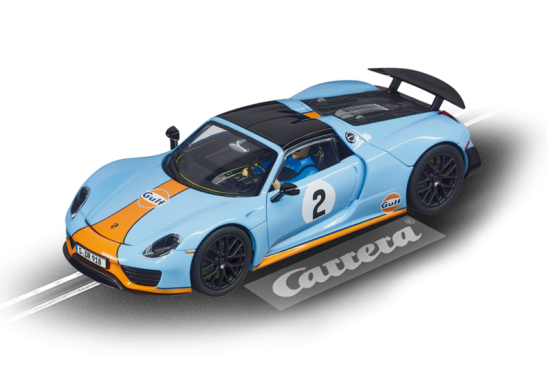 Carrera Digital 132 Porsche 918 Spyder Gulf Racing no 02 20030788