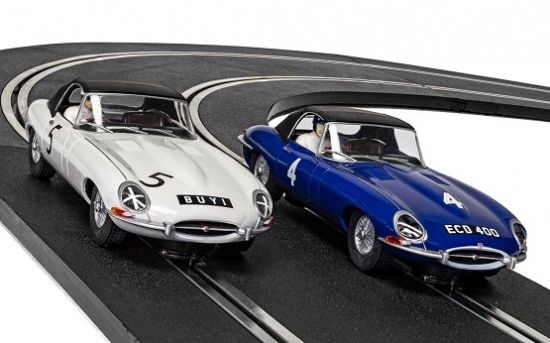 Scalextric Jaguar E-Type 1961, Twin-Pack c4062A