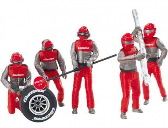 Carrera Figurenset Mechaniker Carrera Crew rot 21131