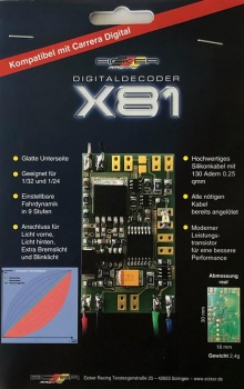 Eicker Racing Digital Decoder X81 V1.2 für Carrera Digital 132