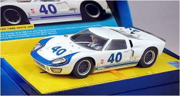 Scalextric Ford GT40 1966 White 2943a