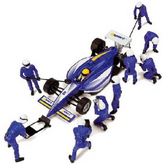 Scalextric Pit TEAM blue