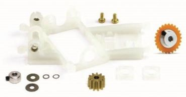 Umrüstkit offset Flat 1.0mm Z25 15 AW plastic / Z11 6,5mm  Slot.it KK14c