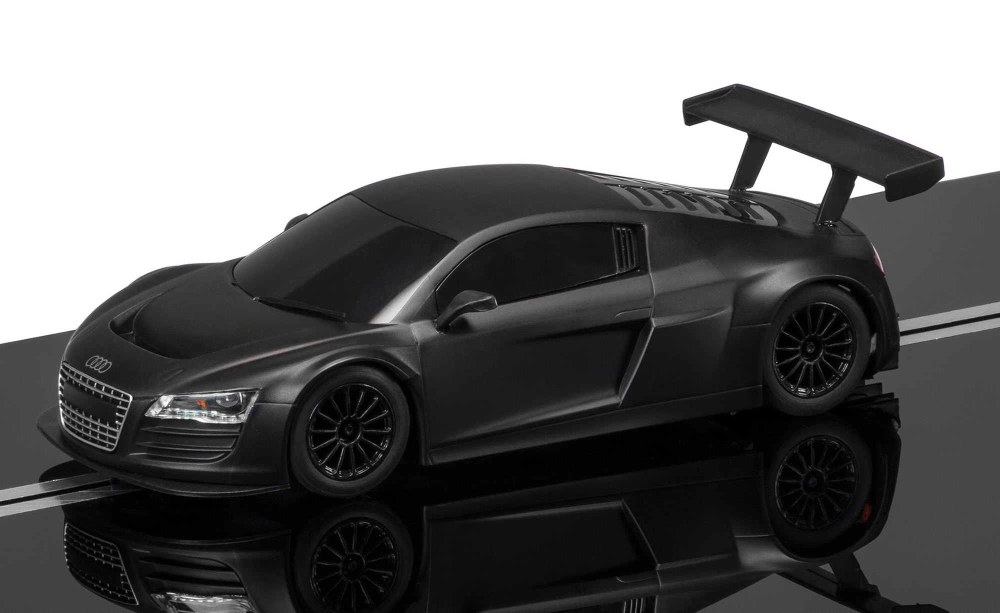 scalextric audi r8 lms srs mattschwarz 3663. Black Bedroom Furniture Sets. Home Design Ideas