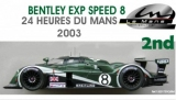 LE Mans Miniatures Bentley Nr. 8  LeMans 2003